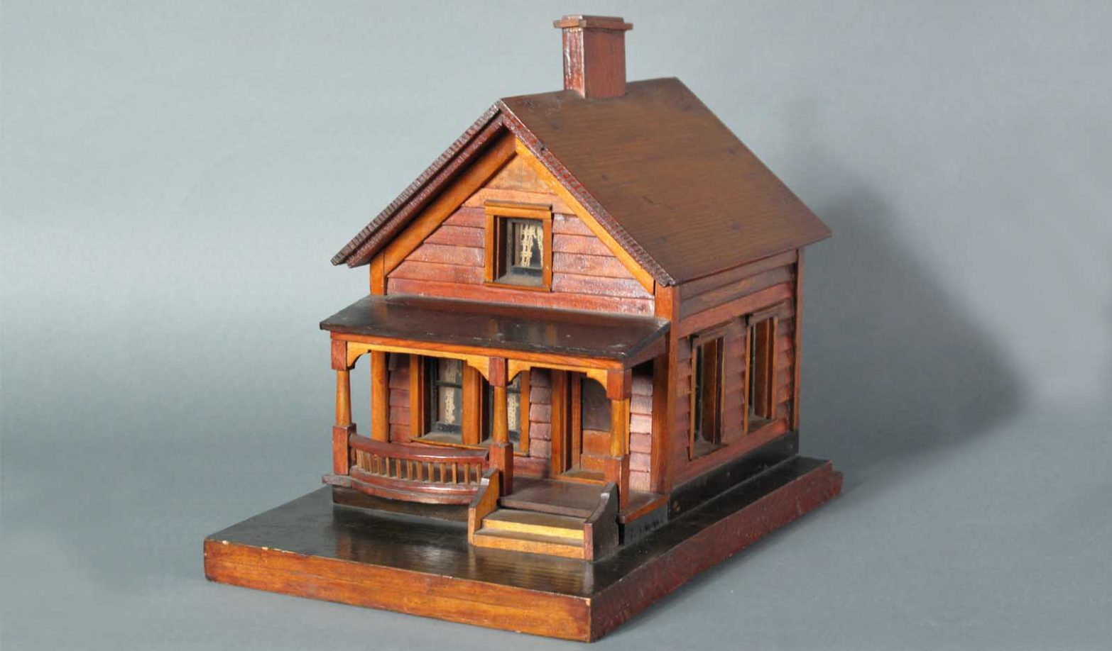 Wooden house model just folk for Building model houses