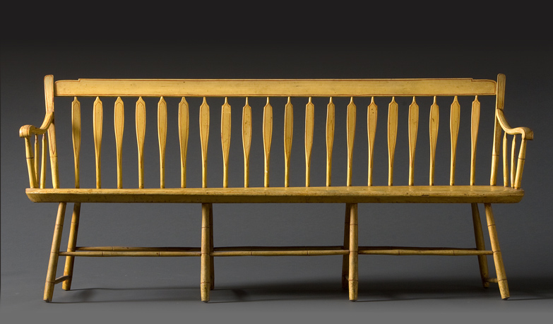 Incredible Windsor Arrowback Yellow Bench Just Folk Gmtry Best Dining Table And Chair Ideas Images Gmtryco